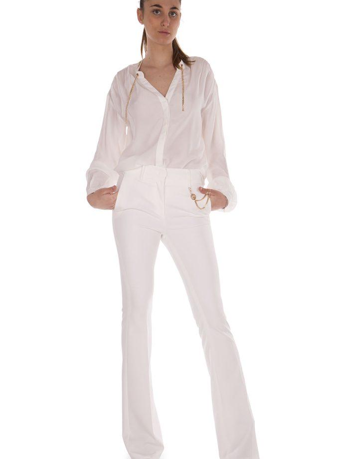 Pantalone poliestere bianco